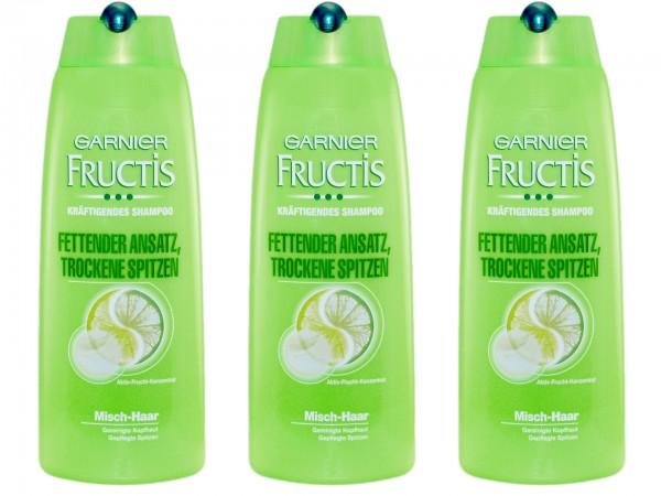 Garnier Fructis Shampoo Fettender Ansatz Trockene Spitzen 3 X