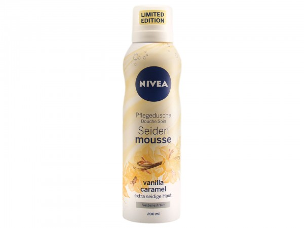 Nivea Seiden Mousse Vanilla Caramel Pflegedusche Limited Edition (200 ml) (4005900411105)