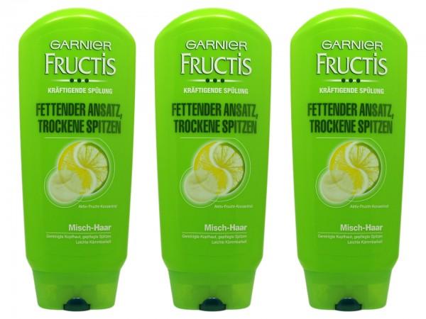 Garnier Fructis Fettender Ansatz, Trockene Spitzen Spülung (3600541013841)