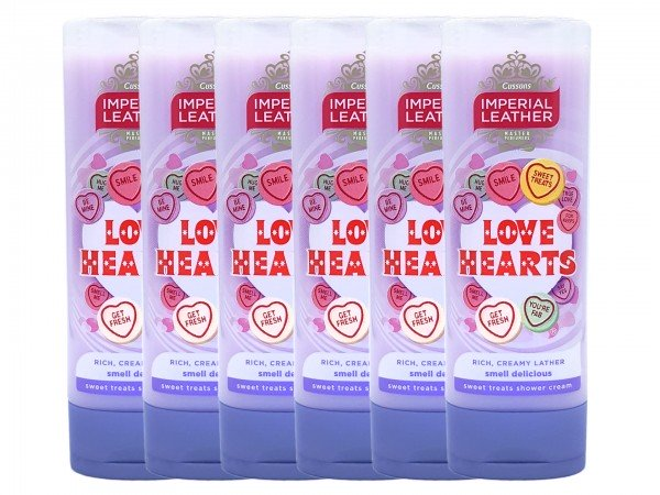 Imperial Leather Love Hearts Duschgel 6 x 250 ml (5000101501180)