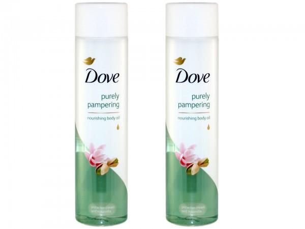 Dove verwöhnendes Körperöl intensiv pflegend mit Pistazie und Magnolienduft (2 x 150 ml) (40133171)